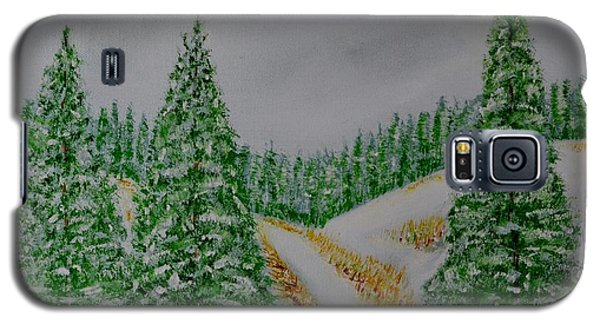 Galaxy S5 Case featuring the painting Snow Day by Melvin Turner
