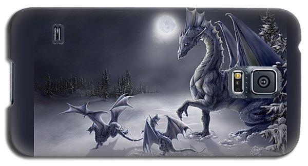Dragon Galaxy S5 Case - Snow Day by Rob Carlos