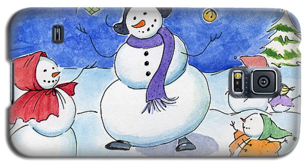 Snow Folks - Family Time. Galaxy S5 Case by Katherine Miller