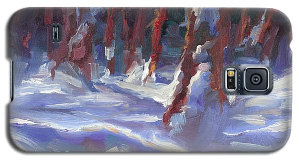 Snow Laden - Winter Snow Covered Trees Galaxy S5 Case