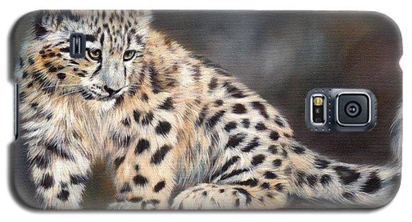Snow Leopard Cub Galaxy S5 Case