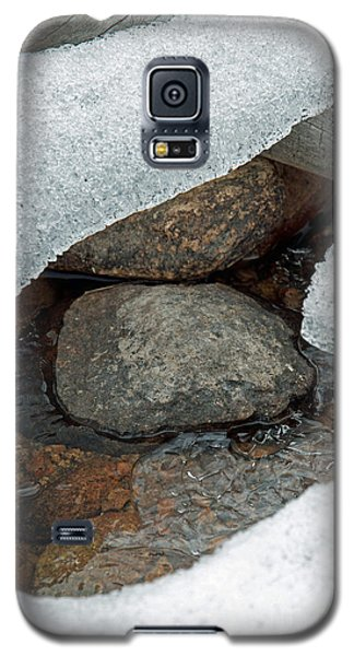 Galaxy S5 Case featuring the photograph Snow Melt 1 by Minnie Lippiatt