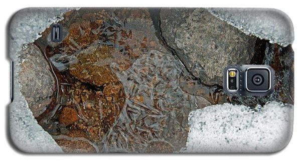 Galaxy S5 Case featuring the photograph Snow Melt 3 by Minnie Lippiatt