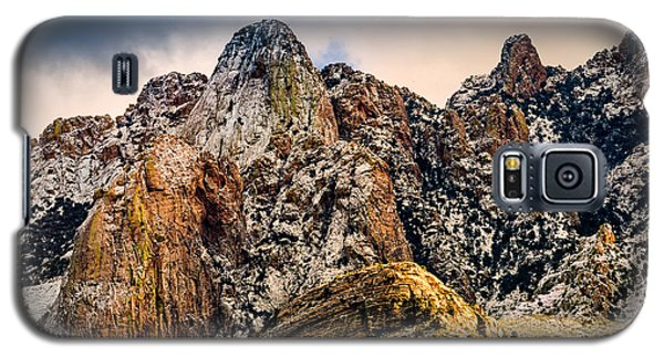 Galaxy S5 Case featuring the photograph Snow On Peaks 45 by Mark Myhaver