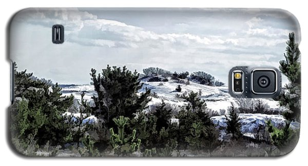 Galaxy S5 Case featuring the photograph Snow On The Dunes Photo Art by Constantine Gregory