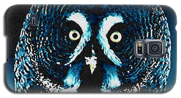 Galaxy S5 Case featuring the painting Snow Owl by Colette V Hera  Guggenheim
