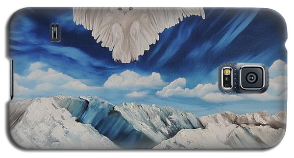Galaxy S5 Case featuring the painting Snow Owl by Dianna Lewis