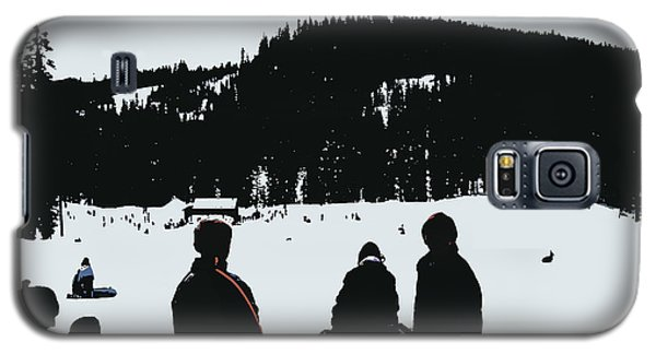 Galaxy S5 Case featuring the photograph Snow Park Fun  by Mindy Bench