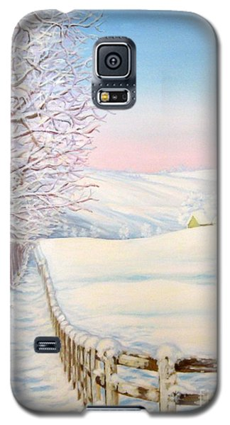 Galaxy S5 Case featuring the painting Snow Path by Inese Poga