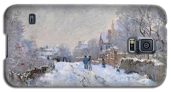 Snow Scene At Argenteuil Galaxy S5 Case
