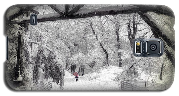 Snow Scene In Central Park Galaxy S5 Case