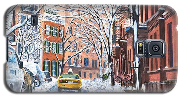 Snow West Village New York City Galaxy S5 Case by Anthony Butera