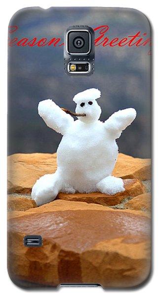 Snowball Snowman Galaxy S5 Case