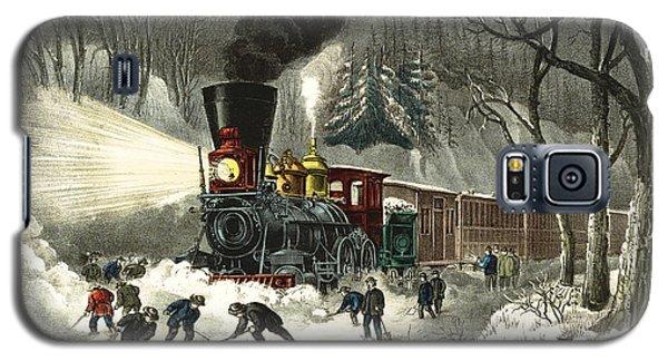 Snowbound Locomotive 1871 Galaxy S5 Case