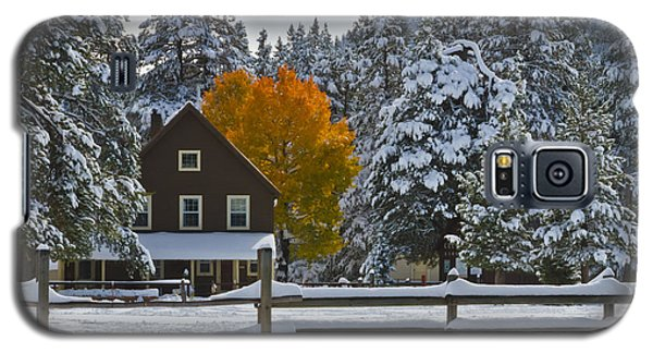 Snowed In At The Ranch Galaxy S5 Case by Mitch Shindelbower
