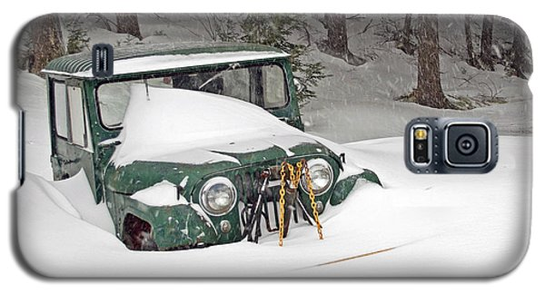 Galaxy S5 Case featuring the photograph Snowed In - Color by Barbara West
