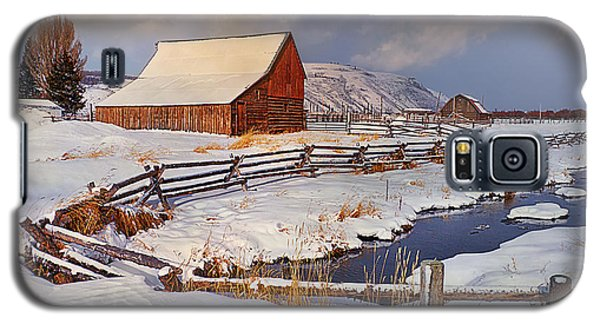 Galaxy S5 Case featuring the photograph Snowed In by Priscilla Burgers
