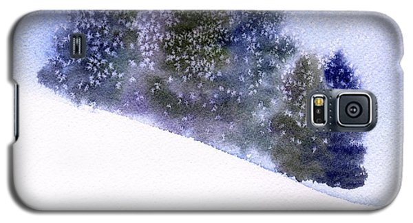 Galaxy S5 Case featuring the painting Snowfall by Anne Duke