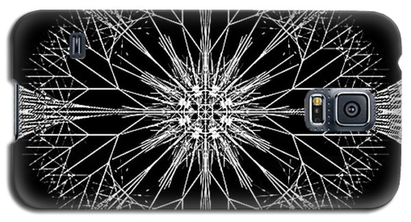 Galaxy S5 Case featuring the digital art Snowflakes Are Dancing by Rhonda Strickland