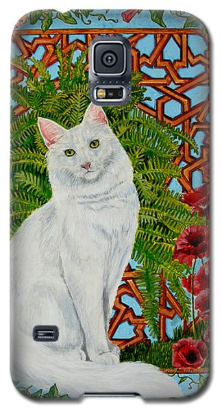 Galaxy S5 Case featuring the painting Snowi's Garden by Leena Pekkalainen