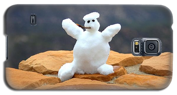 Snowman At Bryce - Square Galaxy S5 Case