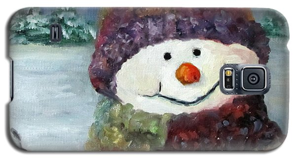 Snowman I - Christmas Series I Galaxy S5 Case by Cheri Wollenberg