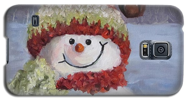 Snowman II - Christmas Series Galaxy S5 Case by Cheri Wollenberg