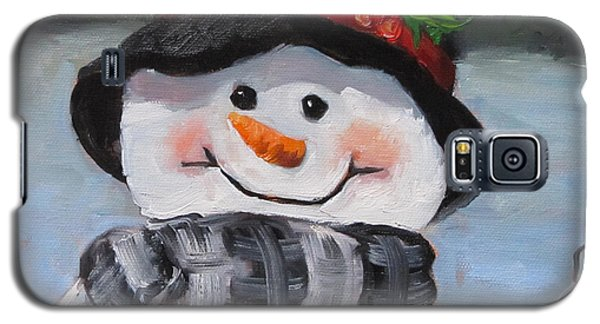 Snowman Iv - Christmas Series Galaxy S5 Case by Cheri Wollenberg