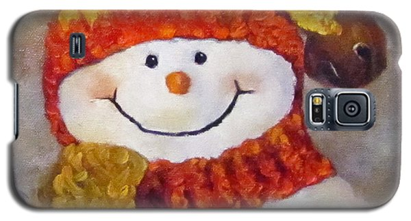 Snowman V - Christmas Series Galaxy S5 Case by Cheri Wollenberg