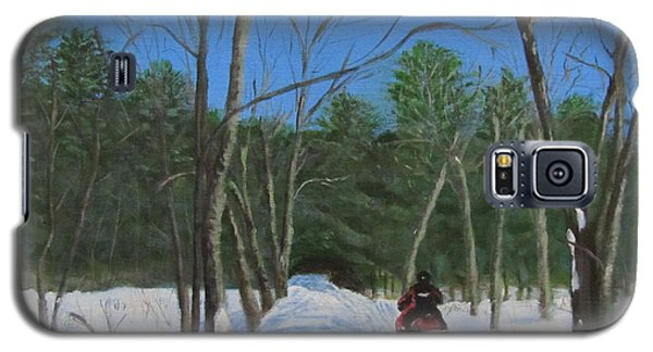 Snowmobile On Trail Galaxy S5 Case