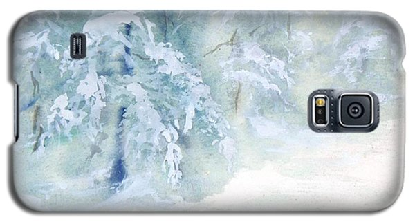 Galaxy S5 Case featuring the painting Snowstorm by Joy Nichols