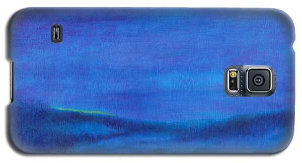 Galaxy S5 Case featuring the painting Snowy Blue Nocturne by Judith Cheng