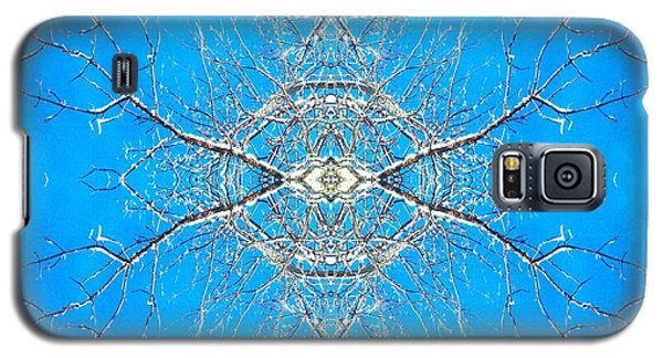 Galaxy S5 Case featuring the photograph Snowy Branches In The Sky Abstract Art Photo by Marianne Dow