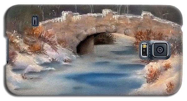 Galaxy S5 Case featuring the pastel Snowy Bridge by Lori Ippolito