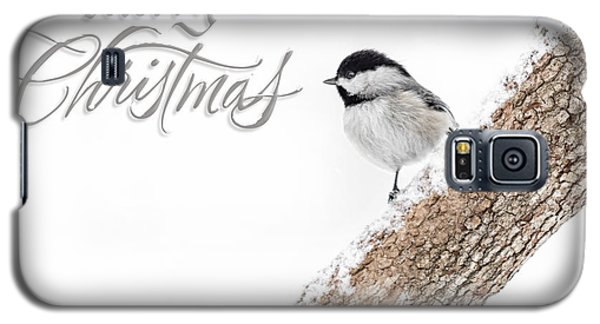 Snowy Chickadee Christmas Card Galaxy S5 Case