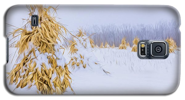 Snowy Corn Shocks - Artistic Galaxy S5 Case