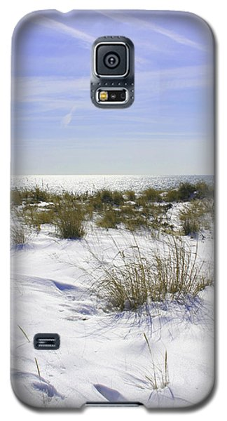 Galaxy S5 Case featuring the photograph Snowy Dunes by Karen Silvestri