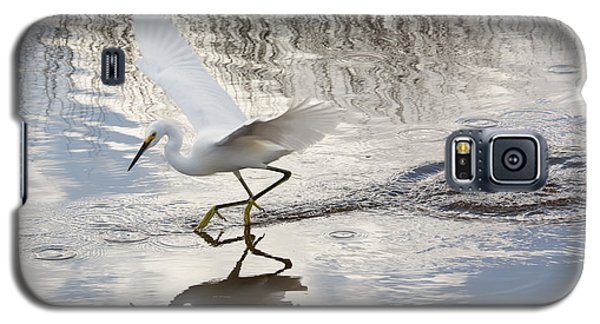 Snowy Egret Gliding Across The Water Galaxy S5 Case