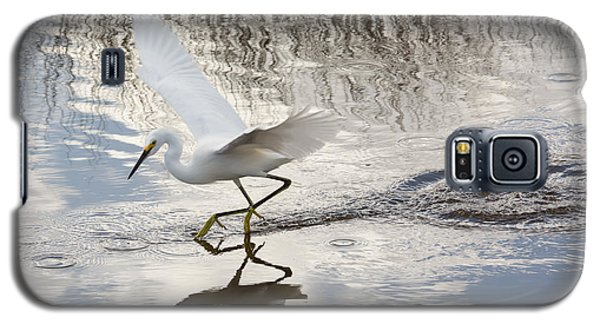 Galaxy S5 Case featuring the photograph Snowy Egret Gliding Across The Water by John M Bailey