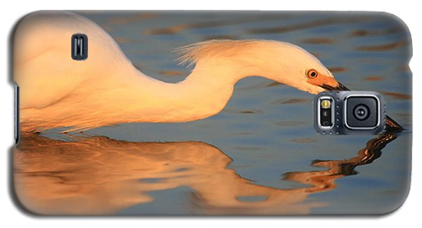 Galaxy S5 Case featuring the photograph Snowy Egret Mirror by John F Tsumas