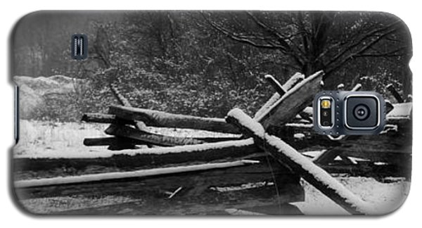 Snowy Fence Galaxy S5 Case by Michael Porchik