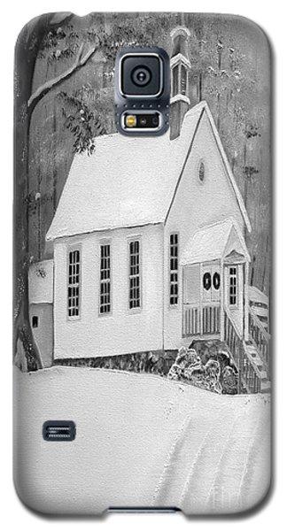 Snowy Gates Chapel -white Church - Portrait View Galaxy S5 Case