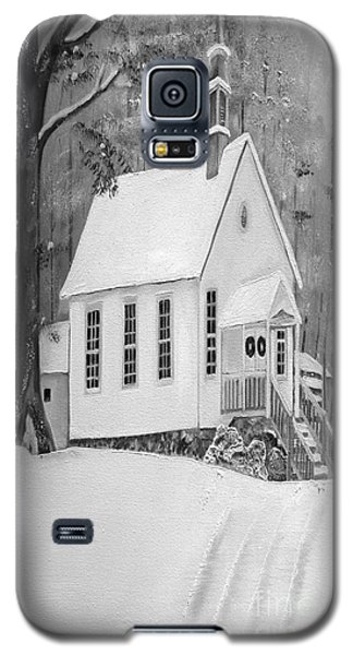 Snowy Gates Chapel -white Church - Portrait View Galaxy S5 Case
