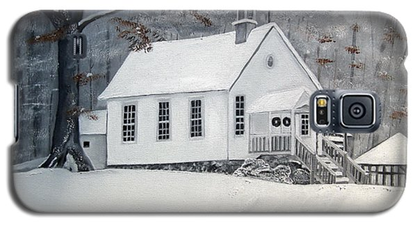Snowy Gates Chapel  -little White Church - Ellijay Galaxy S5 Case