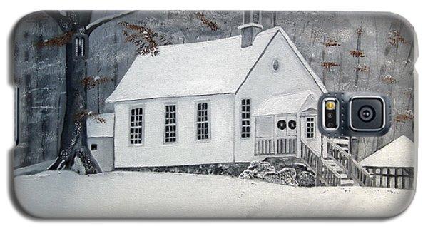 Snowy Gates Chapel  -little White Church - Ellijay Galaxy S5 Case by Jan Dappen