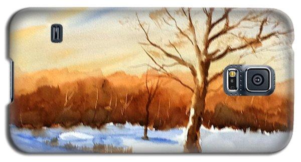 Snowy Indiana Sunset Galaxy S5 Case