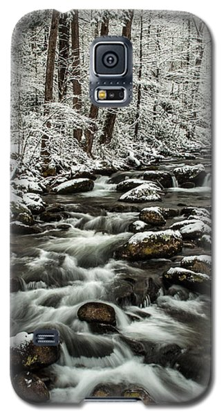 Galaxy S5 Case featuring the photograph Snowy Mountain Stream by Debbie Green