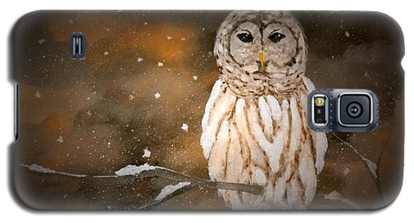 Snowy Night Owl Galaxy S5 Case