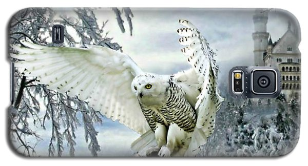 Galaxy S5 Case featuring the mixed media Snowy Owl by Morag Bates