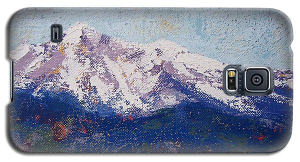 Galaxy S5 Case featuring the painting Snowy Peaks by Margaret Bobb